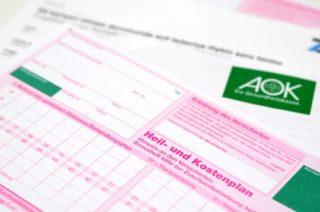 Foto vom Heil- und Kostenplan